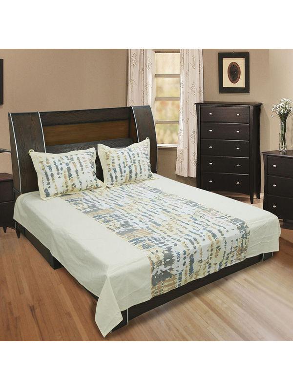 Cotton Printed Bedsheet Set-Pack of 3 Pcs by Dekor World