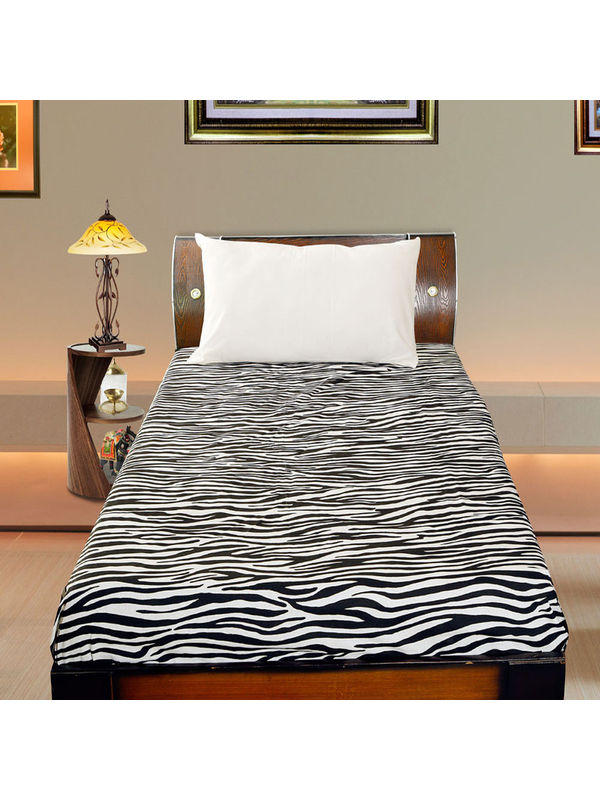 Cotton Animal Printed  Single Bedsheet Set W/Pillow Cover-Pack of 3 Pcs  by Dekor World (MORE COLOR)