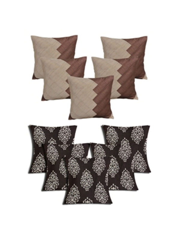 Dekor World Ultima Damask Combo. Cushion Cover(Pack of 10 Pcs)