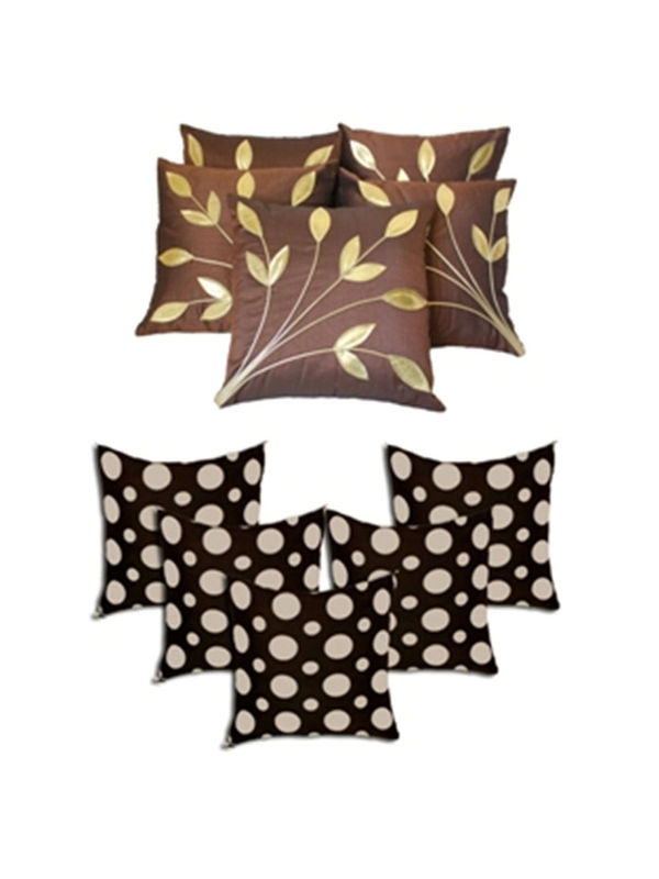 Dekor World Ultima Polka Dot Combo. Cushion Cover(Pack of 10 Pcs)