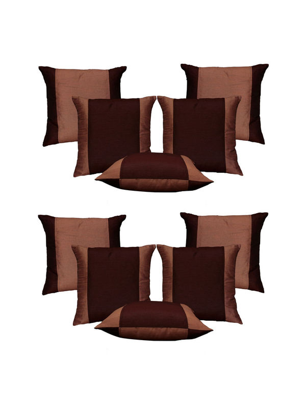 Dekor World Double Side Cushion Cover-Set of 10 Pcs