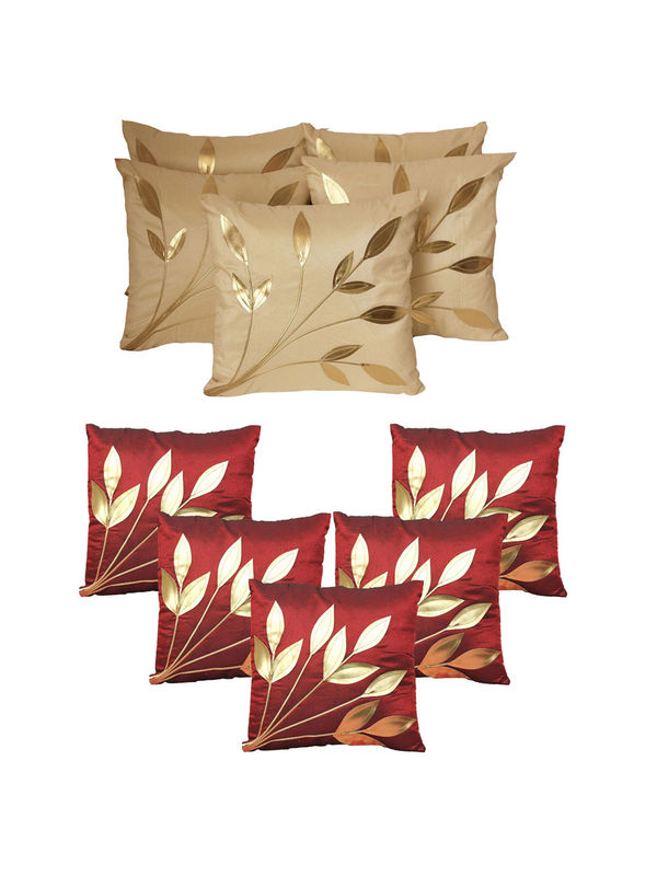 Dekor World Ultima Floral Combo. Cushion Cover(Pack of 10 Pcs)