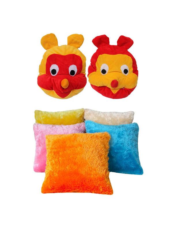 Dekor World Kids Multi Combo. Cushion Cover(Pack of 7 Pcs)