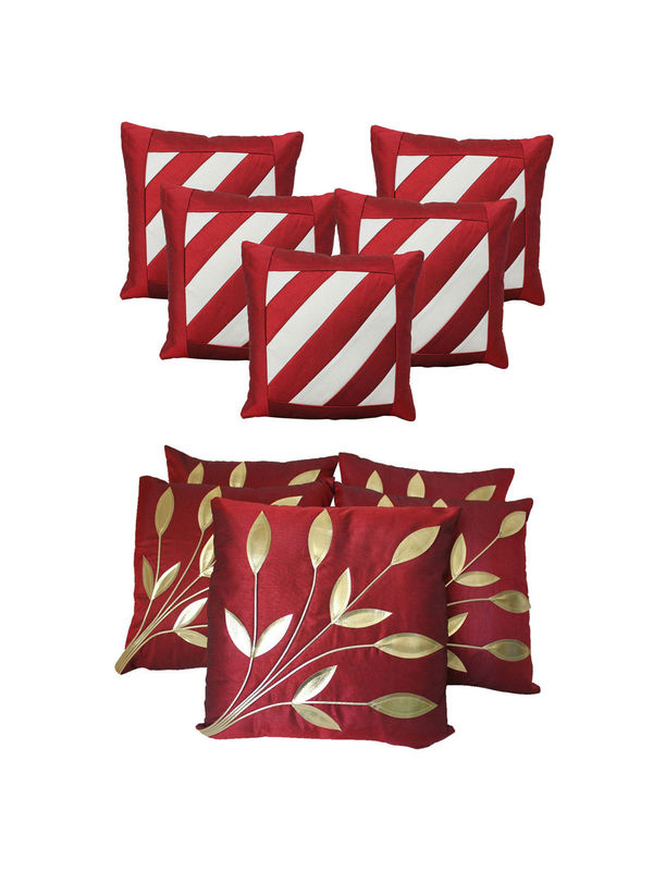 Dekor World Leaf Bonanza Cushion Cover