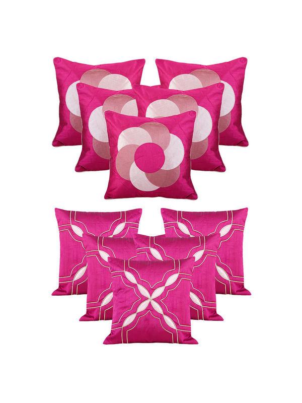Dekor World Purple Emboridery Combo. Cushion Cover