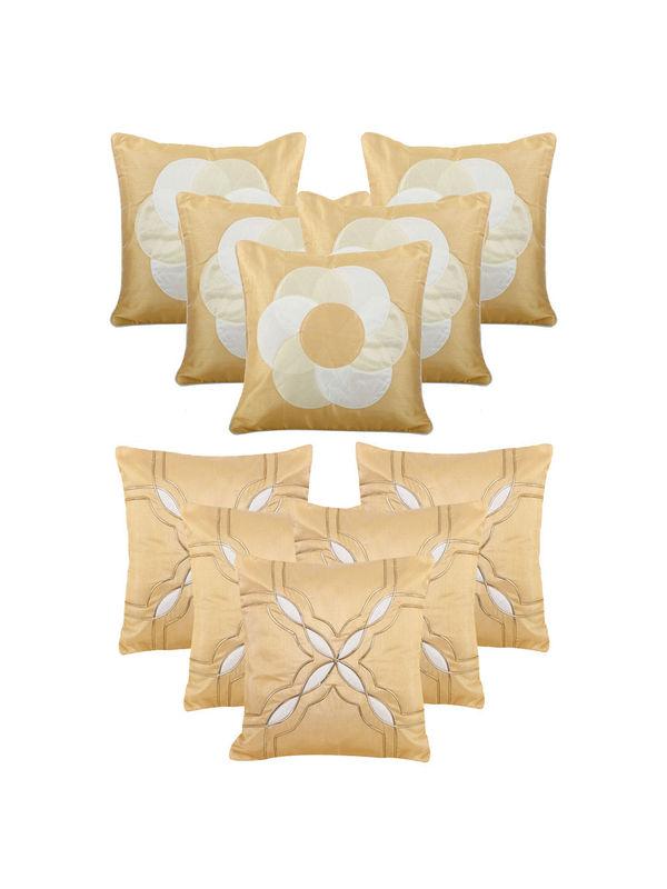 Dekor World Beige Emboridery Combo. Cushion Cover