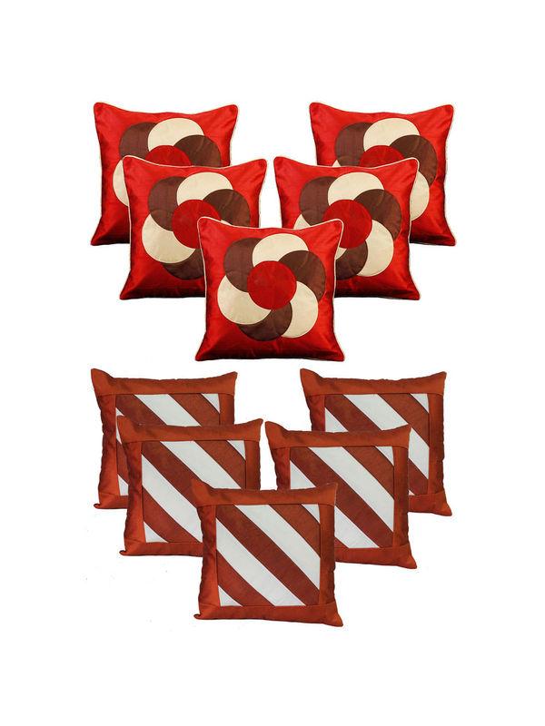 Dekor World Rust Emboridery Combo. Cushion Cover