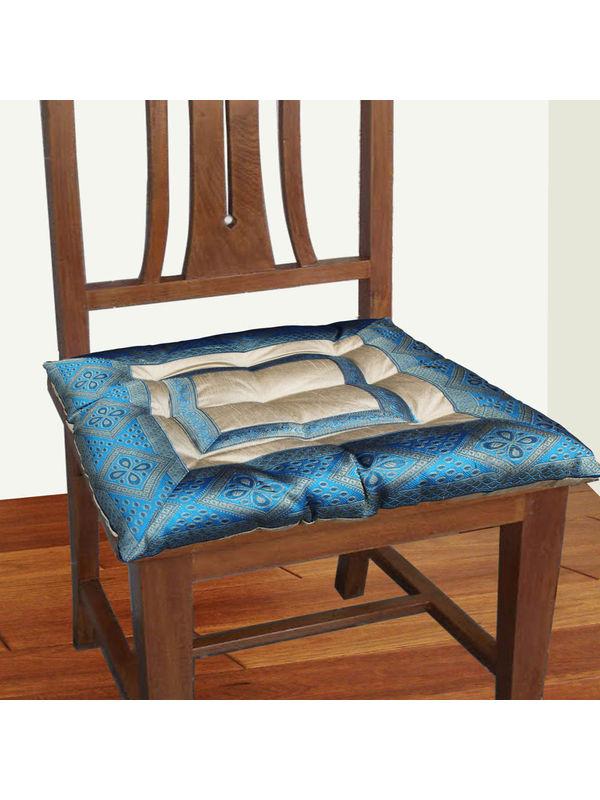 Zari Border Chair Pad by Dekor World