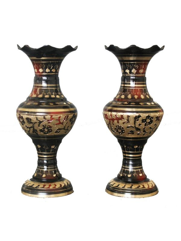 Hand Crafted Flower Vase Set 2 Pcs by Dekor World