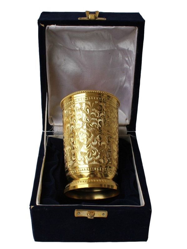 Golden Plated Craving Glass by Dekor World
