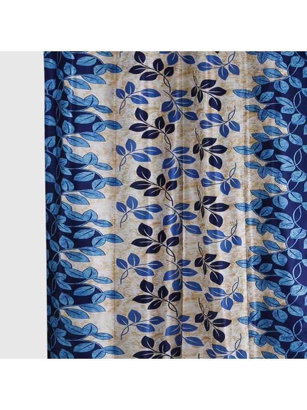 Garden Leaf Blue Fabric by Dekor World  (MORE COLOR)