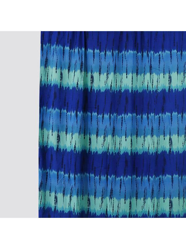 Tie & Dye Blue Cotton Fabric by Dekor World