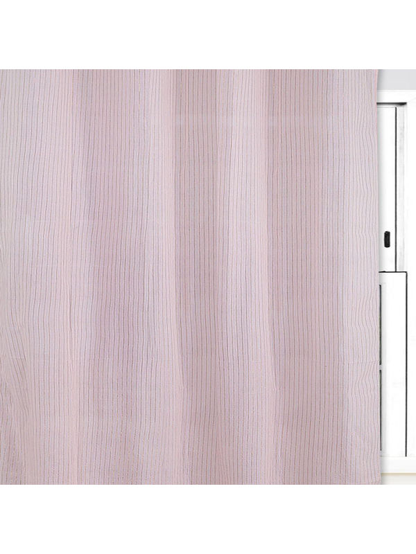 Gold Stripe Pink Cotton Fabric by Dekor World  (MORE COLOR)