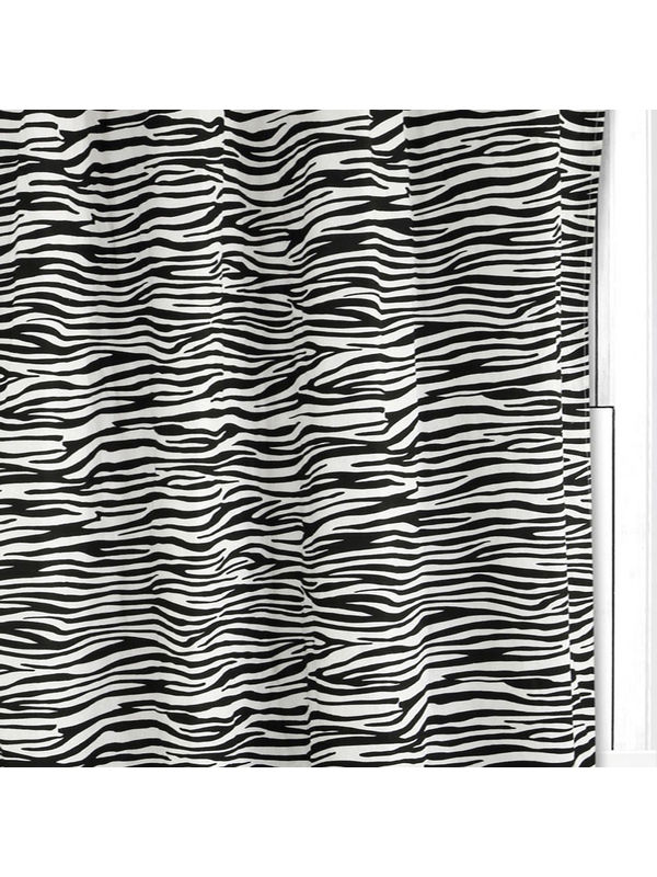 Zebra Printed White Cotton Fabric Fabric by Dekor World  (MORE COLOR)