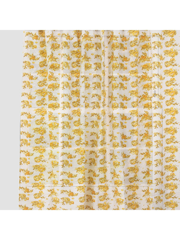 Rose Flower Yellow Cotton  Fabric by Dekor World  (MORE COLOR)