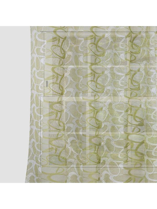 Circular Green Net  Fabric by Dekor World  (MORE COLOR)