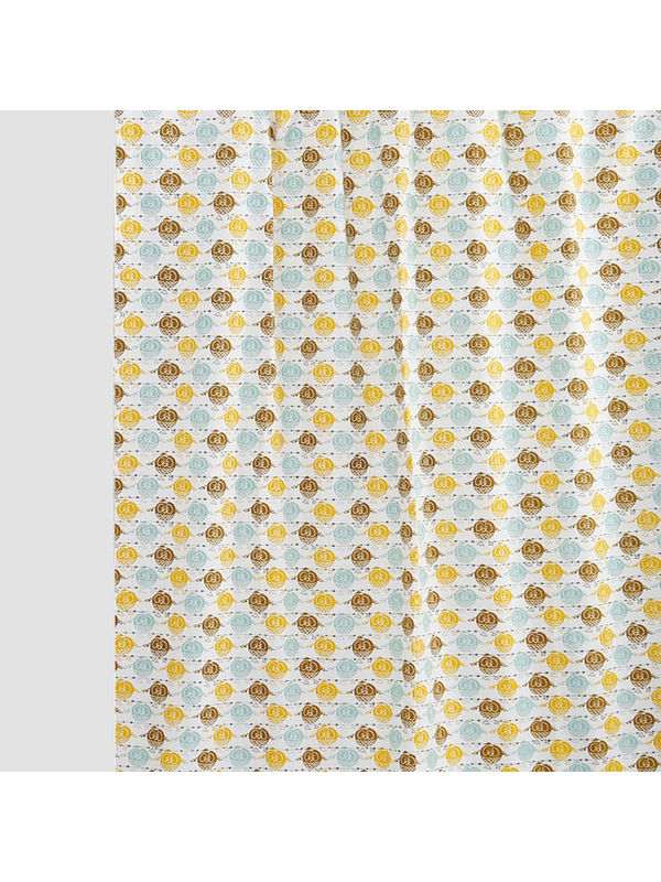 Multi Owl  Cotton Fabric by Dekor World