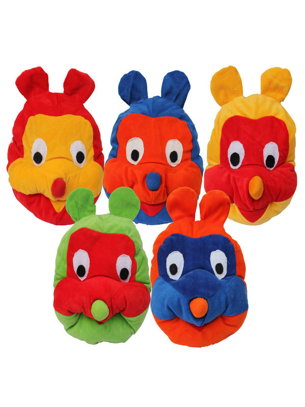 Dekor World Colorful Monkey Pillow (Pack of 5 Pcs)