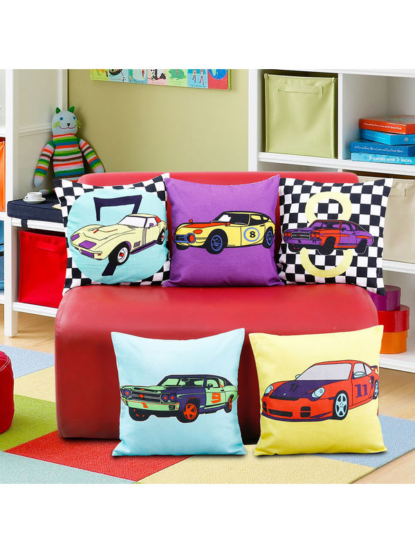 Fun Club Kidz Racing Carz Cushion Collection (Pack of 5 Pcs)
