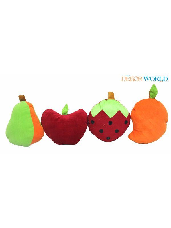 Fruits Cushions Combo-Set of 4 Pcs by Fun Club