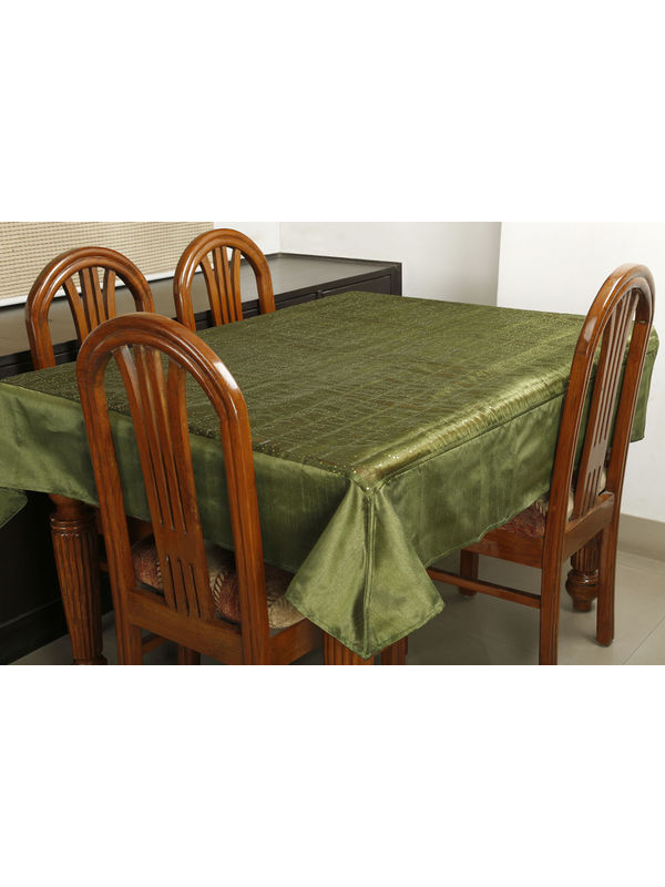 Dekor World Squence Tissue Green Table Cover