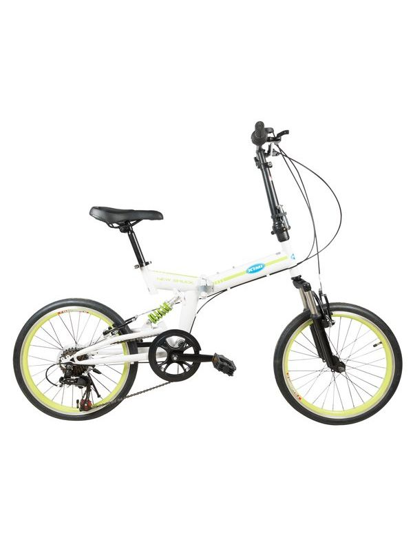KIMI Road Bicycle with Folding High carbon steel with 20'' wheels, green&white