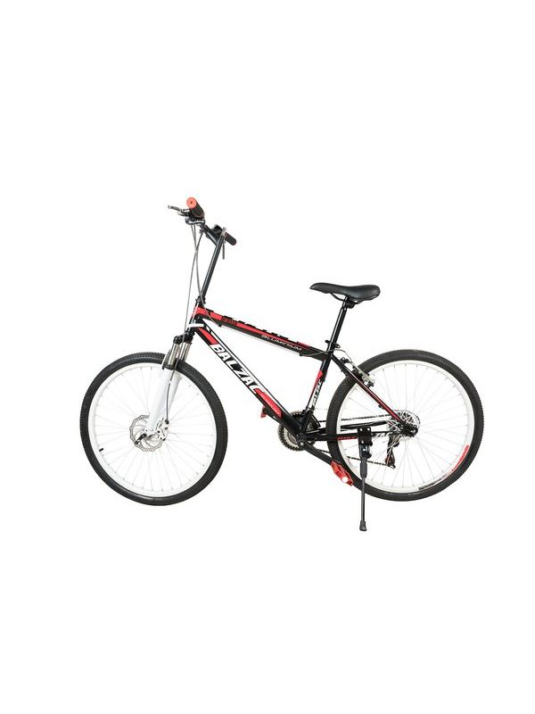 BALZAC Mountain Bicycle with High carbon steel and 26'' wheels, black&red