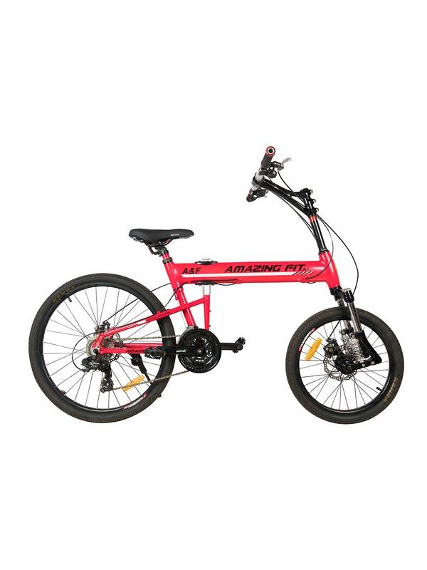Amazing Fit Mountain Bicycle with Folding Aluminum frame and 20 ...