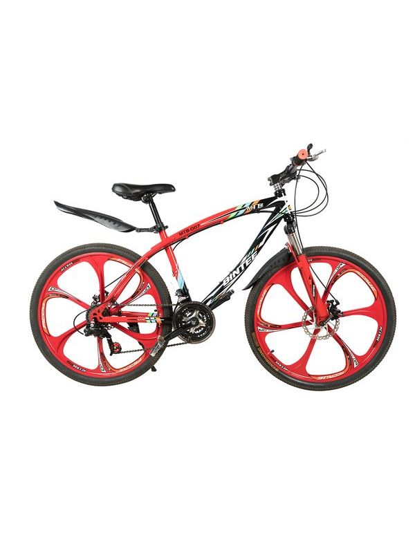 BINTEE Mountain Bicycle with High carbon steel frame and 26'' Magnesium wheels