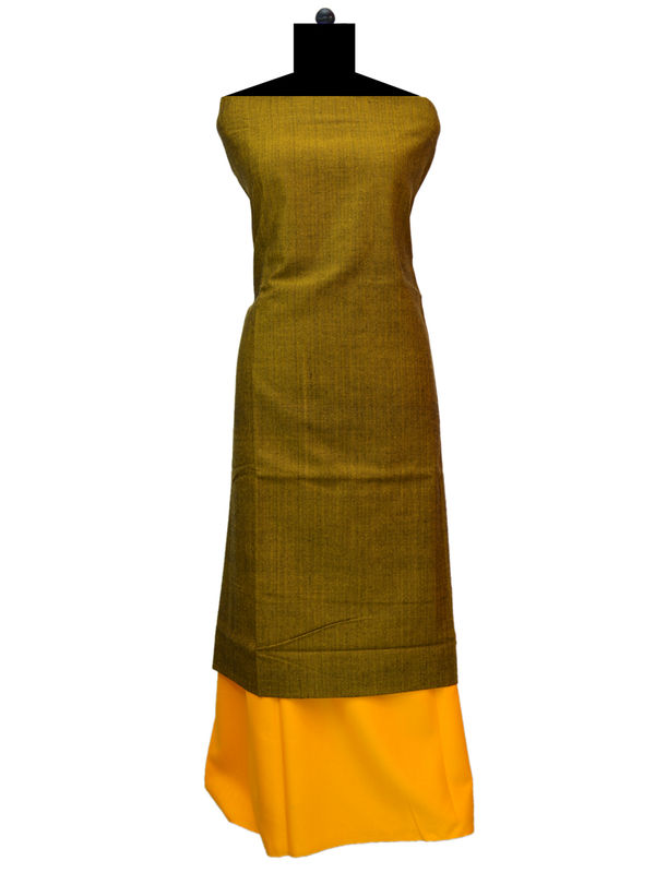 100% High Altitude Pure Wool Copper And Orange Woolen Suit Without Dupatta