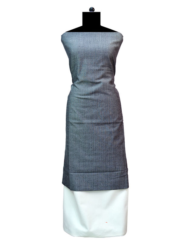 100% High Altitude Pure Wool Grey And White Woolen Suit Without Dupatta