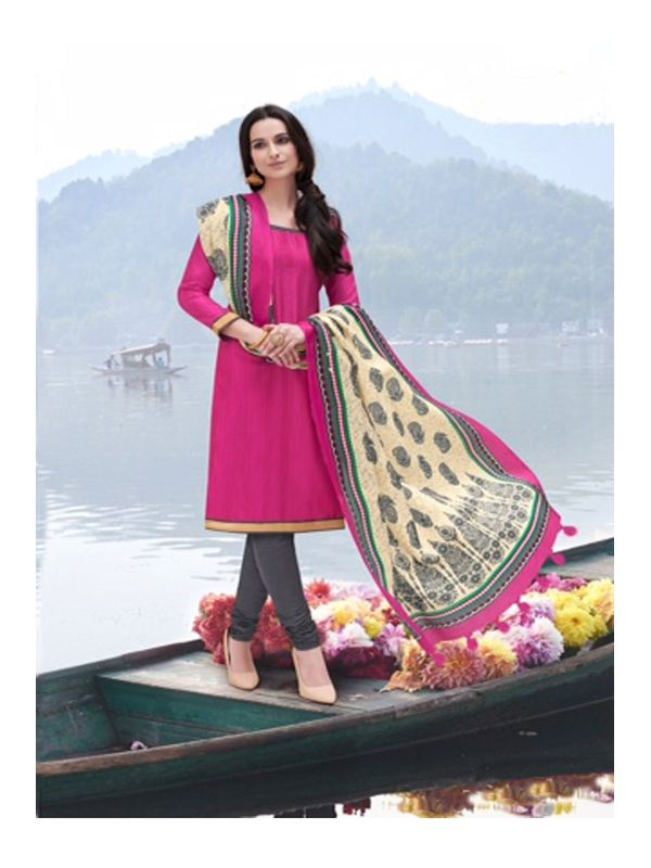 Bhagalpuri Silk Un Stitched Suit With Dupatta