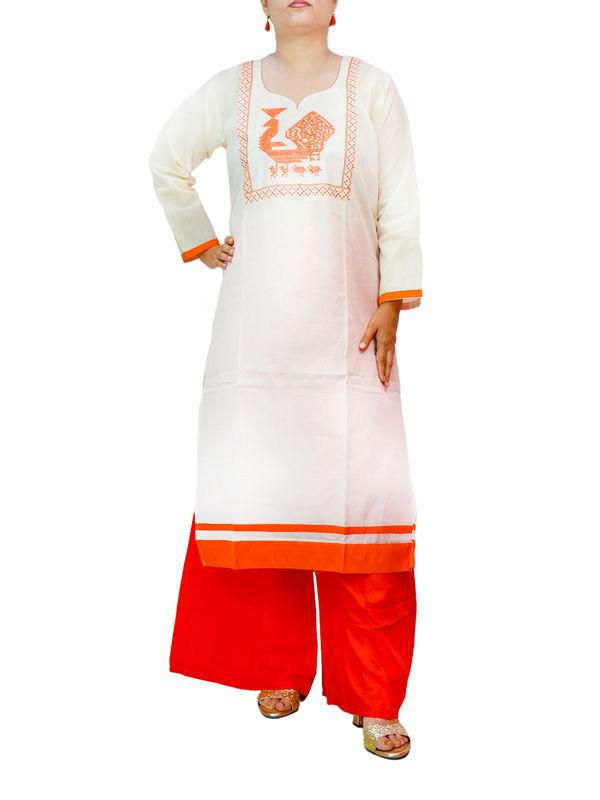 Cotton Off White kurta