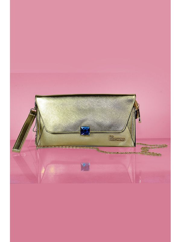 Unique Golden Clutch From Elegance