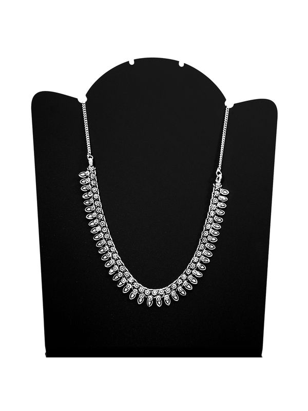 Ethnic Silver Peacock Drop Chain