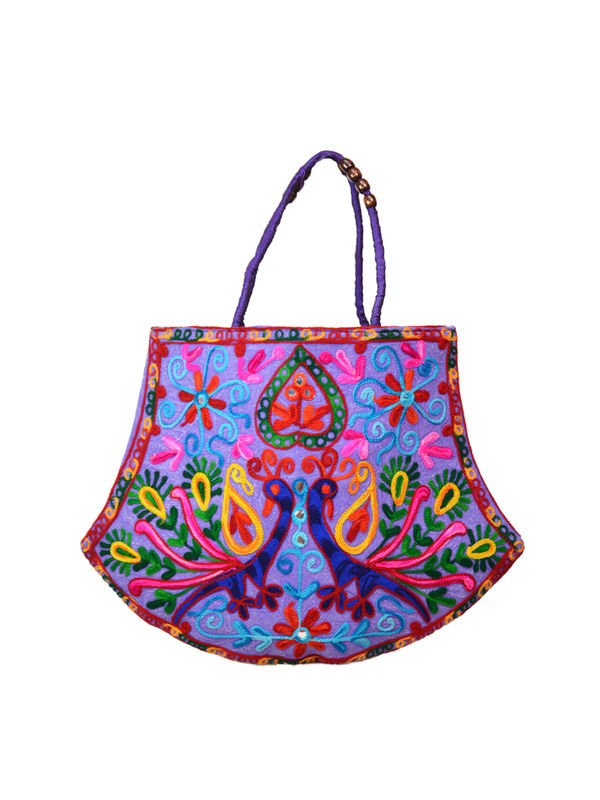 Handicraft Ethnic Embroidered Blue Handbag