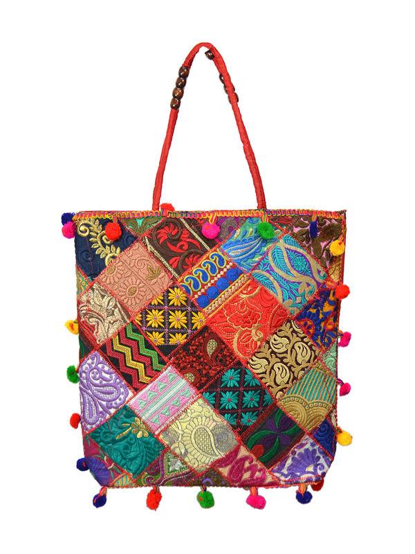 Handicraft Ethnic Embroidered Patchwork Red Handbag