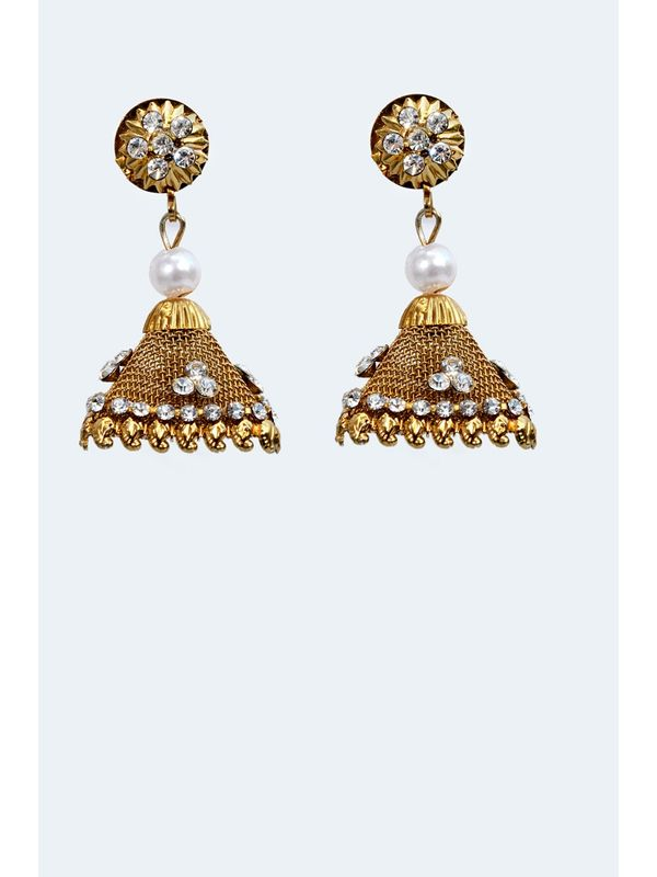 Kashmiri Golden Bronze Danglers