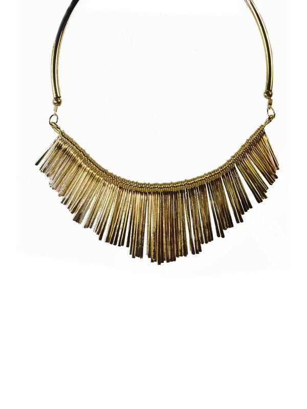 Kraft Work Golden Alloy Necklace