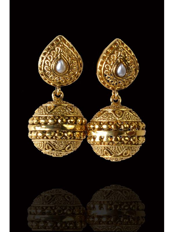 Golden Alloy Danglers And Drop