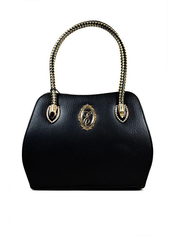 Glamorous Black Handbag From Elegance