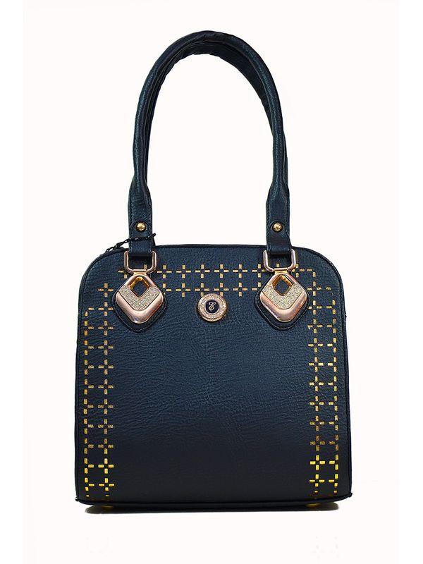Golden Black Handbag From Elegance