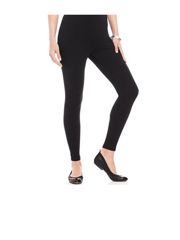 Black Cotton Slim Fit Legging