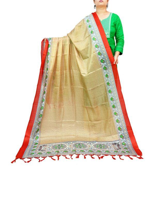 BHAGALPURI SILK GOLDEN PRINTED DUPATTA