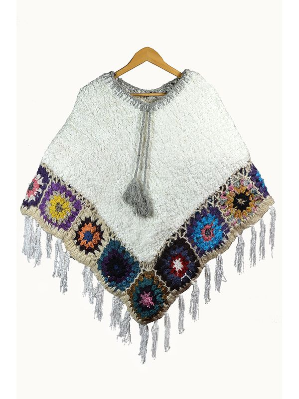 Stylish Warm YAK WOOL Handwoven Poncho