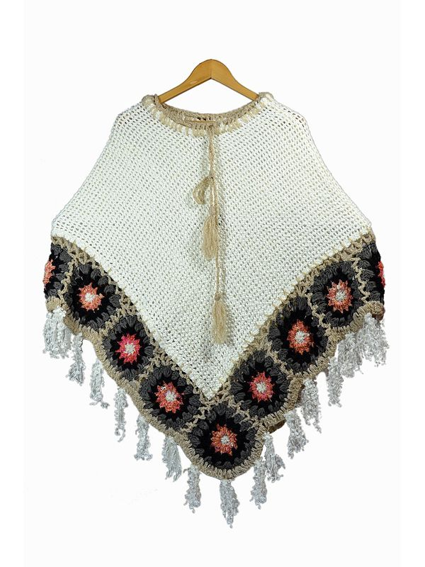Stylish Warm Woolen Handwoven Poncho