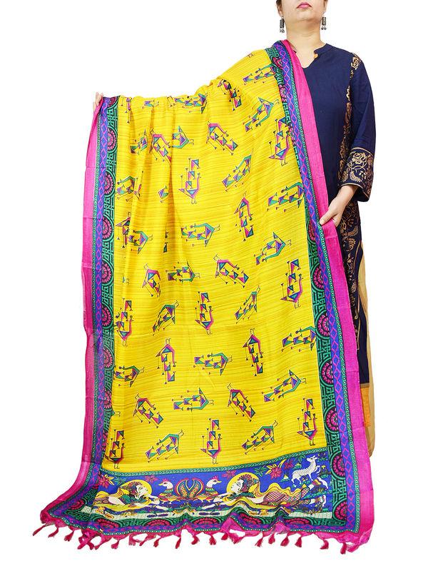 Bhagalpuri Yellow Tribal Dupatta