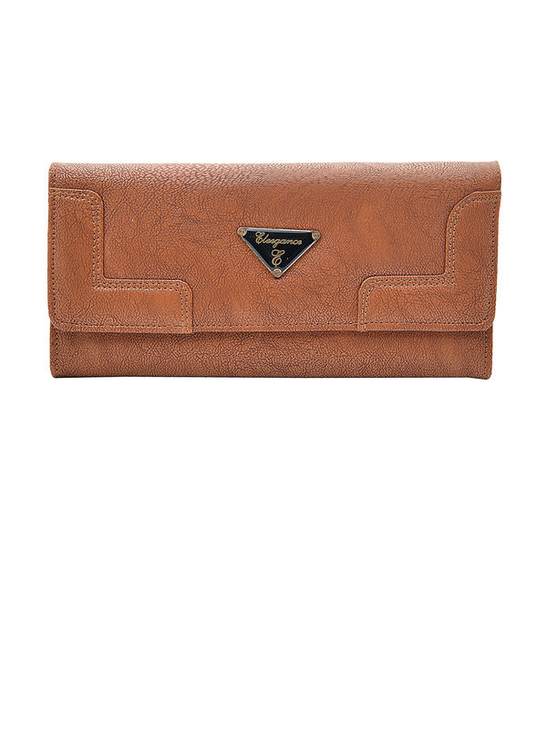 Women Camel Brown Clutch From Elegance