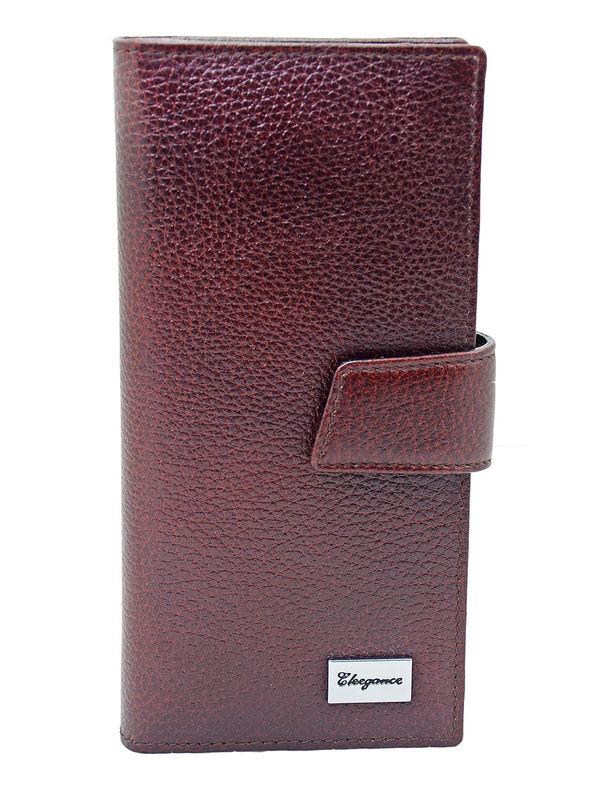 Eleegance Pure Leather Maroon Clutch