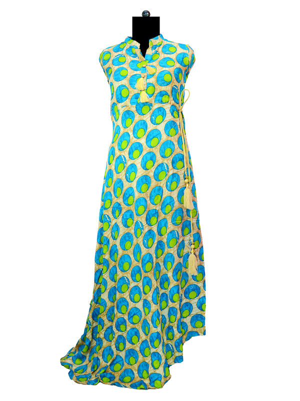 Green Blue Heavy Cotton Gown